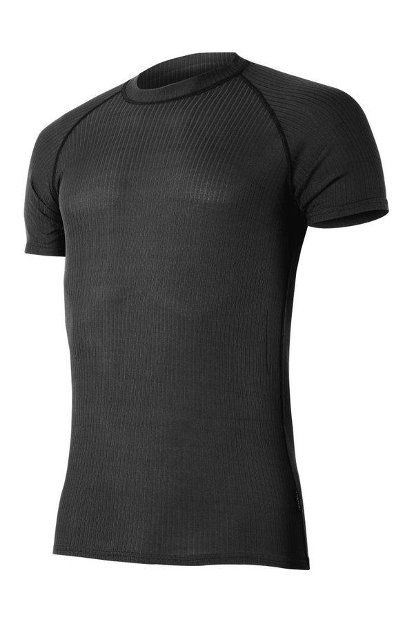 Černé pánské termo tričko s krátkým rukávem Lasting - velikost S