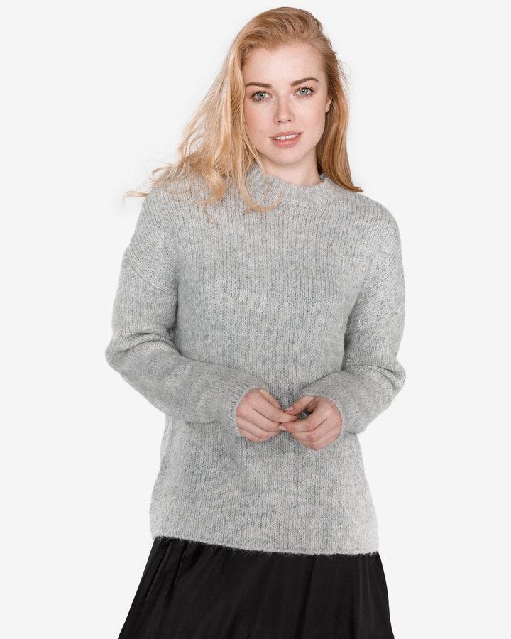 Šedý dámský svetr Selected - velikost S