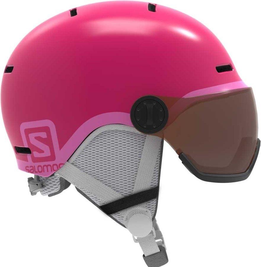 Růžová helma na snowboard Salomon - velikost S