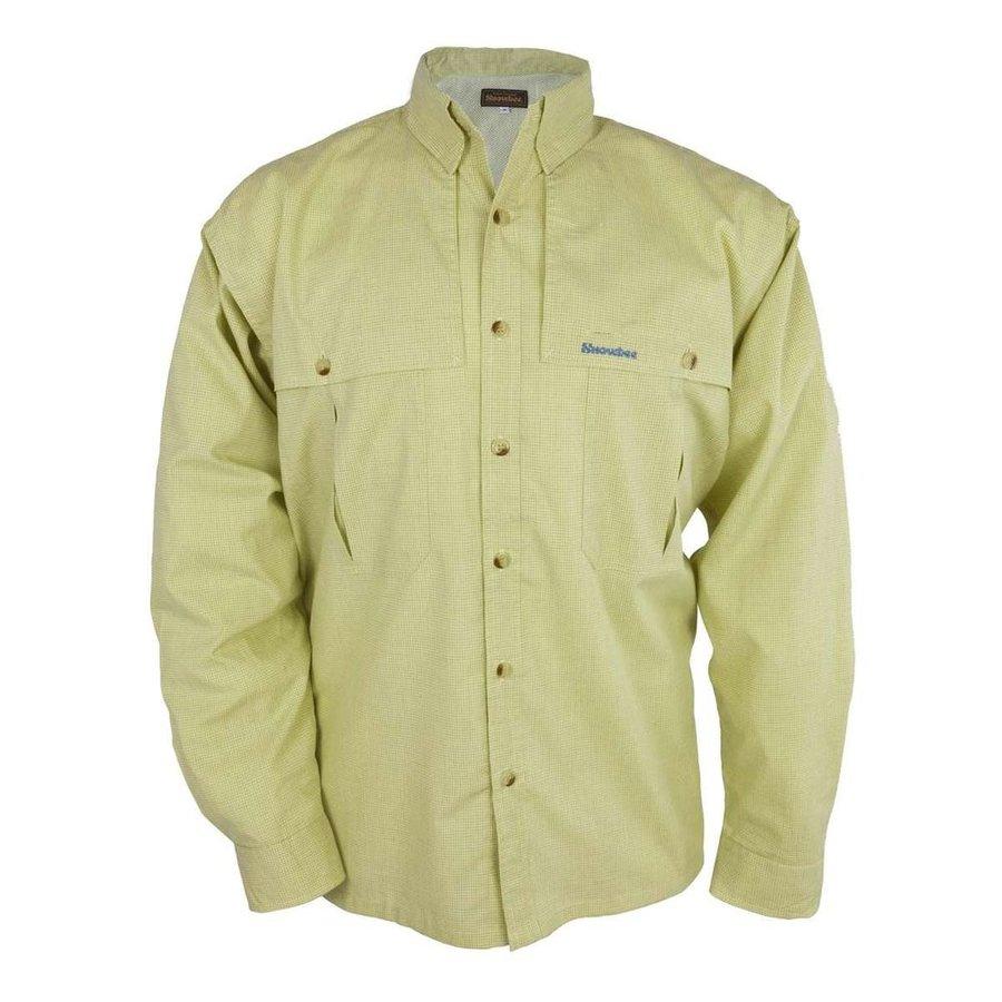 Zelená rybářská košile s dlouhým rukávem Snowbee