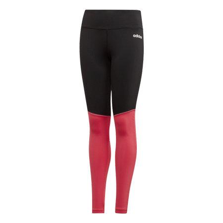 Černo-růžové dívčí legíny Adidas