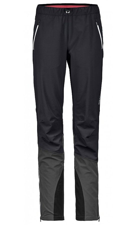 Černo-šedé softshellové dámské turistické kalhoty Ortovox