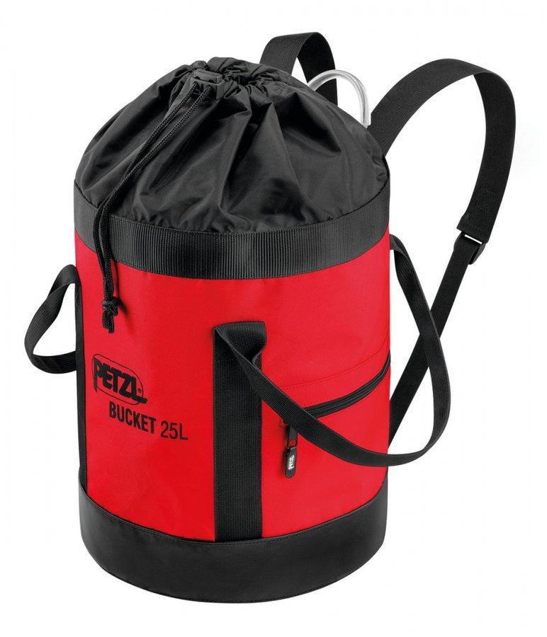 Červený vak na lezecké lano Petzl - objem 25 l
