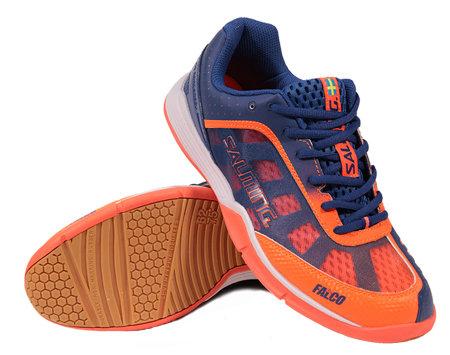 Modro-oranžová pánská sálová obuv Falco, Salming - velikost 45 EU