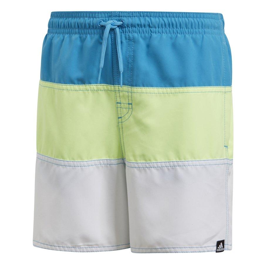 Modré dětské chlapecké koupací kraťasy Yb Cb Sh Sl, Adidas - velikost 128