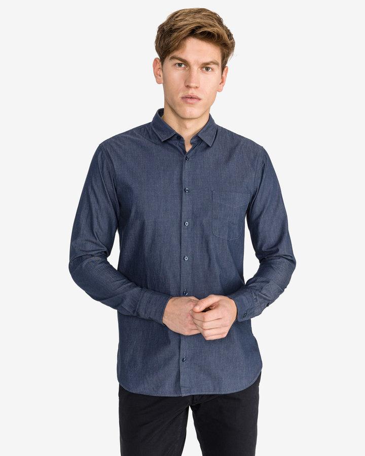 Modrá pánská košile s dlouhým rukávem Hugo Boss - velikost XL
