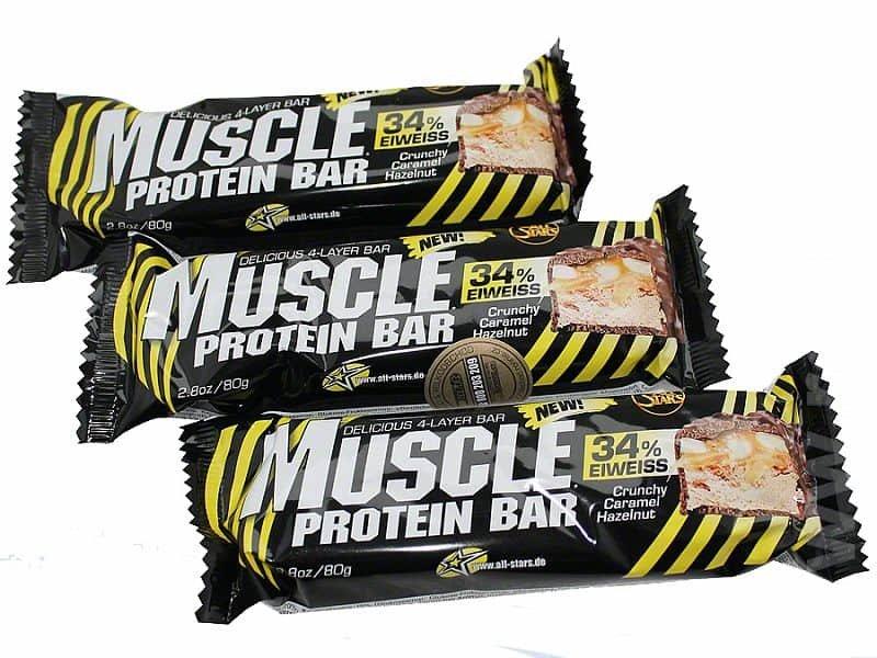 Proteinová tyčinka - All Stars Muscle Protein Bar 34% 80g 80g Karamel - oříšek