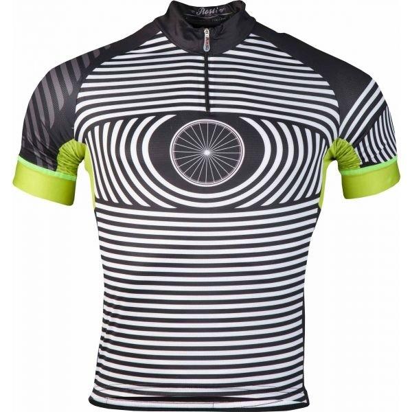 Bílo-černý pánský cyklistický dres Rosti