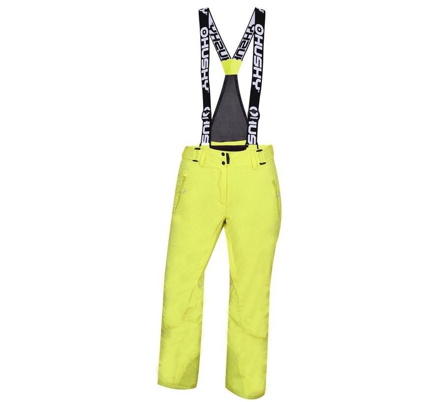 Žluté dámské lyžařské kalhoty Husky