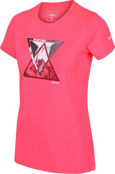 Růžové dámské funkční tričko s krátkým rukávem Regatta