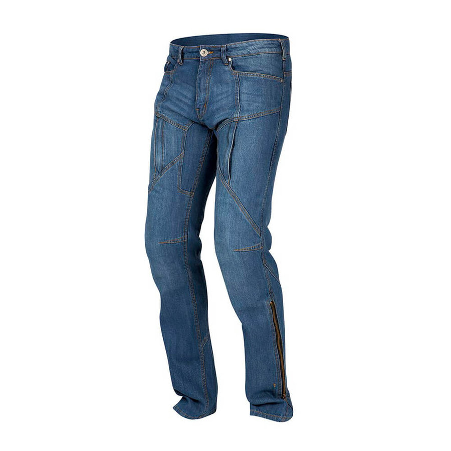 Modré pánské motorkářské kalhoty Hawk, Rebelhorn