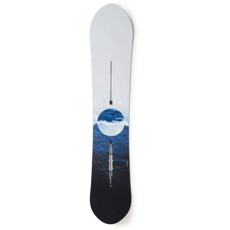 Bílý snowboard bez vázání Burton - délka 150 cm