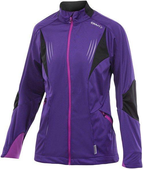Fialová dámská bunda na běžky Craft - velikost M