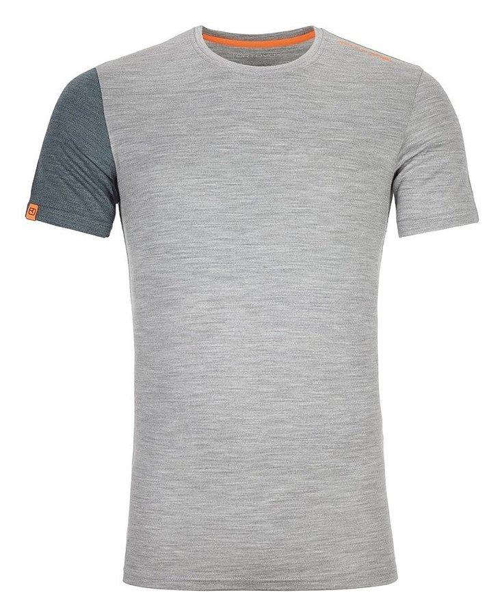 Šedé pánské termo tričko s krátkým rukávem Ortovox