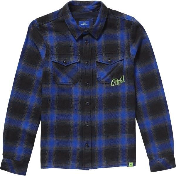 Černo-modrá dětská košile s dlouhým rukávem O'Neill