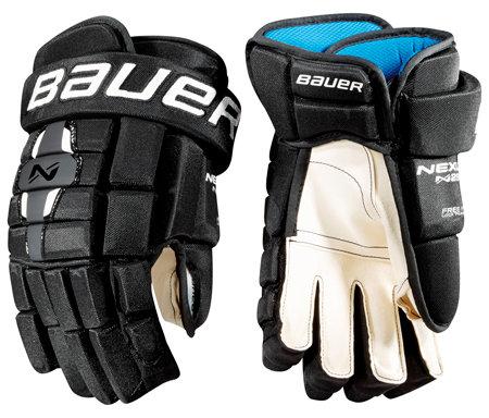 "Černo-červené hokejové rukavice - senior Nexus N2900, Bauer - velikost 14"""