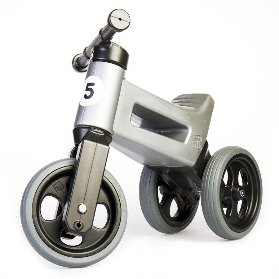 Černo-šedé dětské odrážedlo Funny Wheels