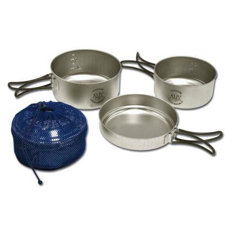 Kempingové nádobí - Nádobí TITANIUM třídílné s obalem