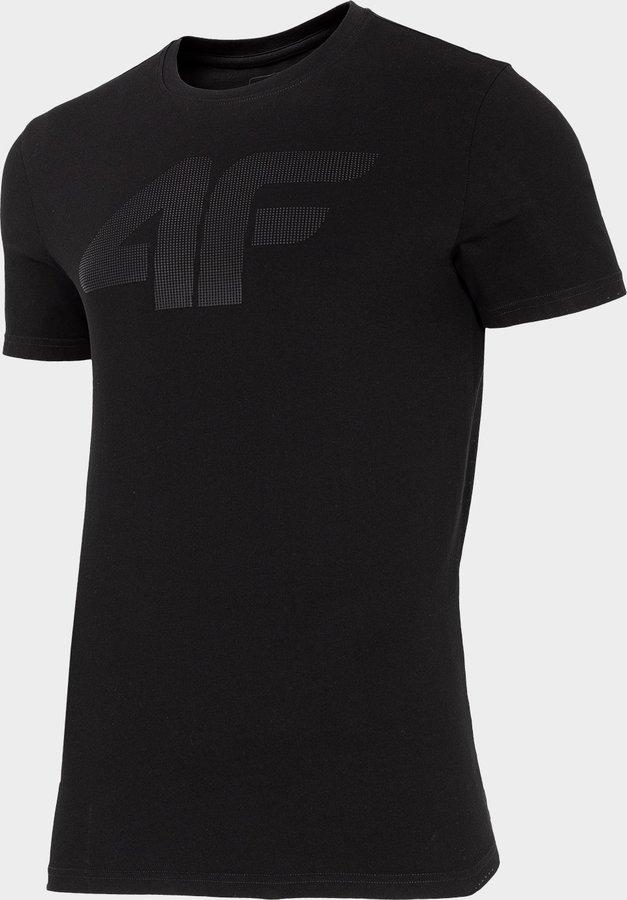 Černé pánské tričko s krátkým rukávem 4F