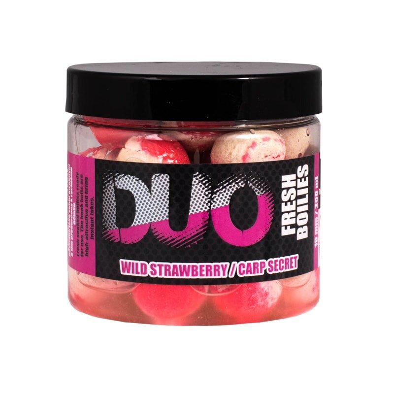 Boilies - LK Baits Fresh Boilies DUO X-Tra 18mm 200ml - Wild Strawberry/Carp Secret