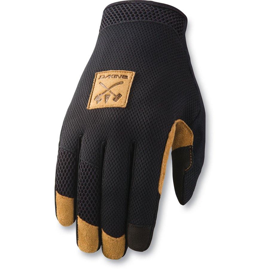 Černé letní pánské cyklistické rukavice Dakine - velikost S