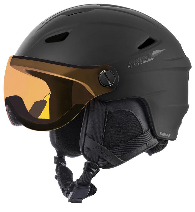 Černá lyžařská helma Relax