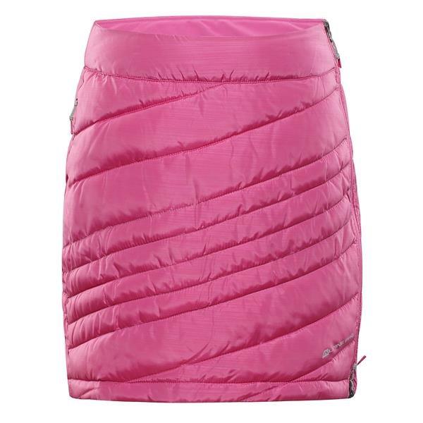 Růžová zimní dámská sukně Alpine Pro - velikost XL