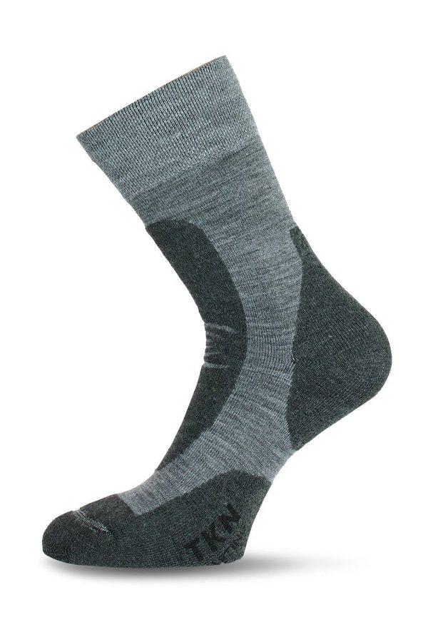 Šedé pánské trekové ponožky Lasting