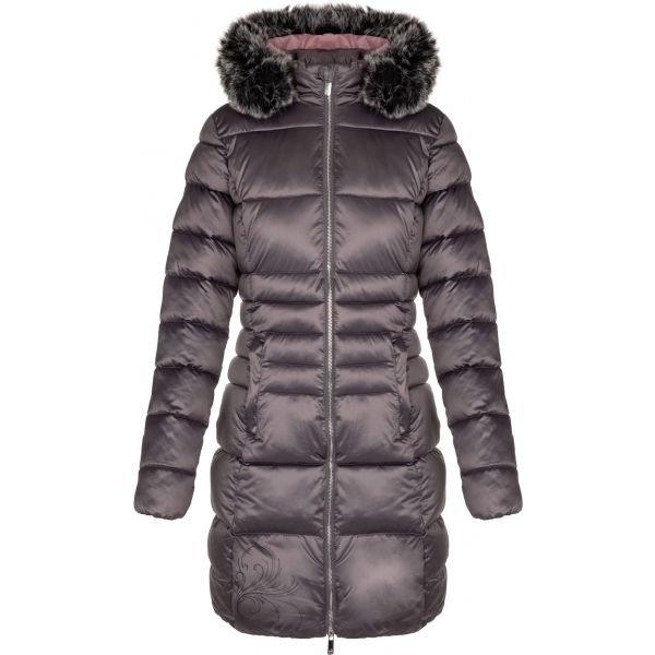 Šedý dámský kabát Loap - velikost L
