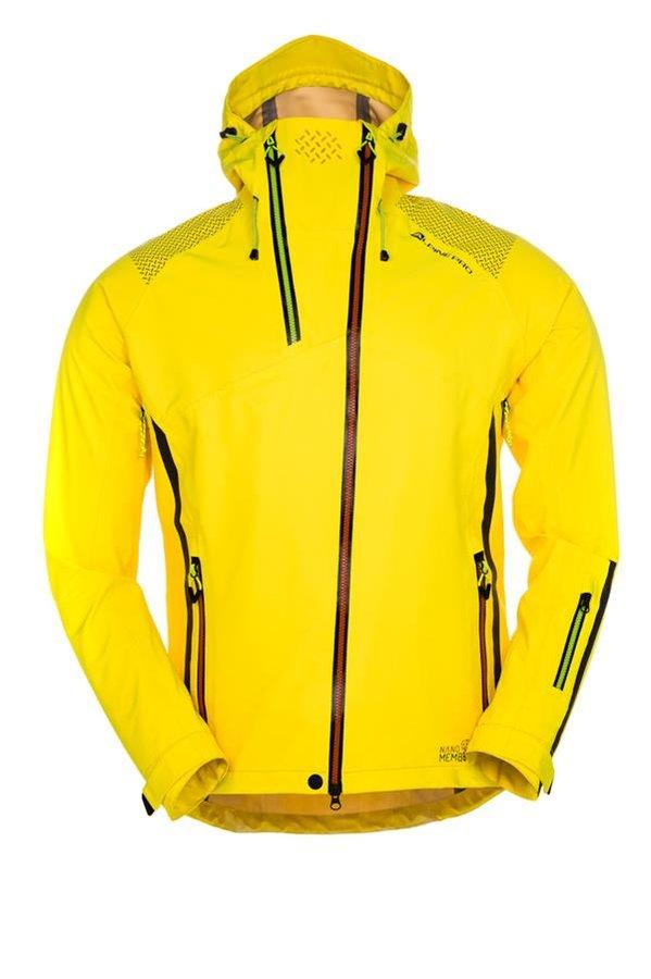 Žlutá sportovní pánská bunda s kapucí Alpine Pro