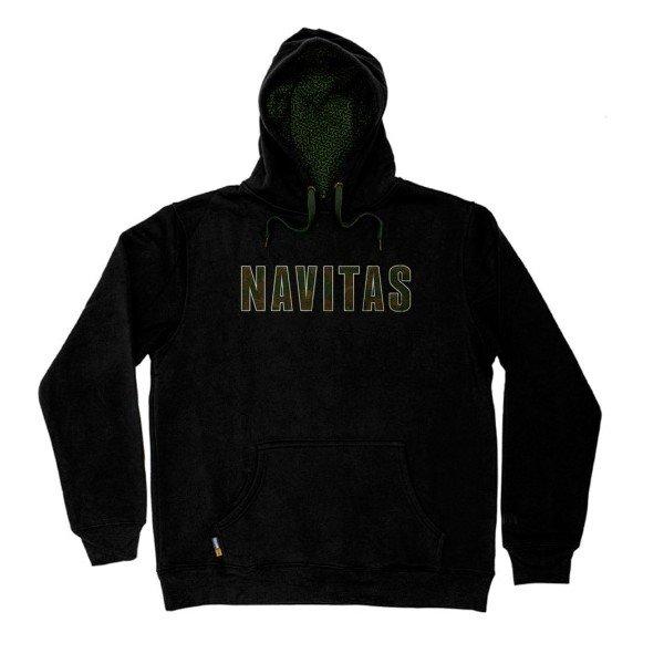 Černá pánská mikina s kapucí Navitas