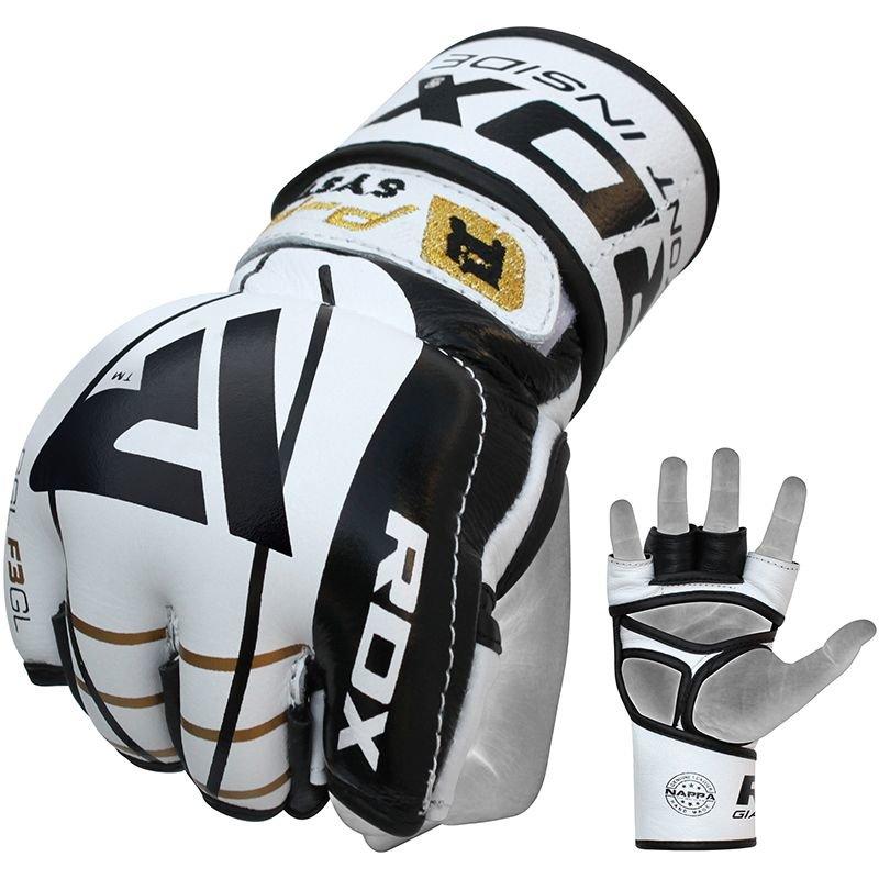 Bílo-černé MMA rukavice RDX - velikost L