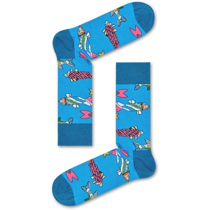 Ponožky - PONOŽKY HAPPY SOCKS FISH & WHALES - modrá - 36/40