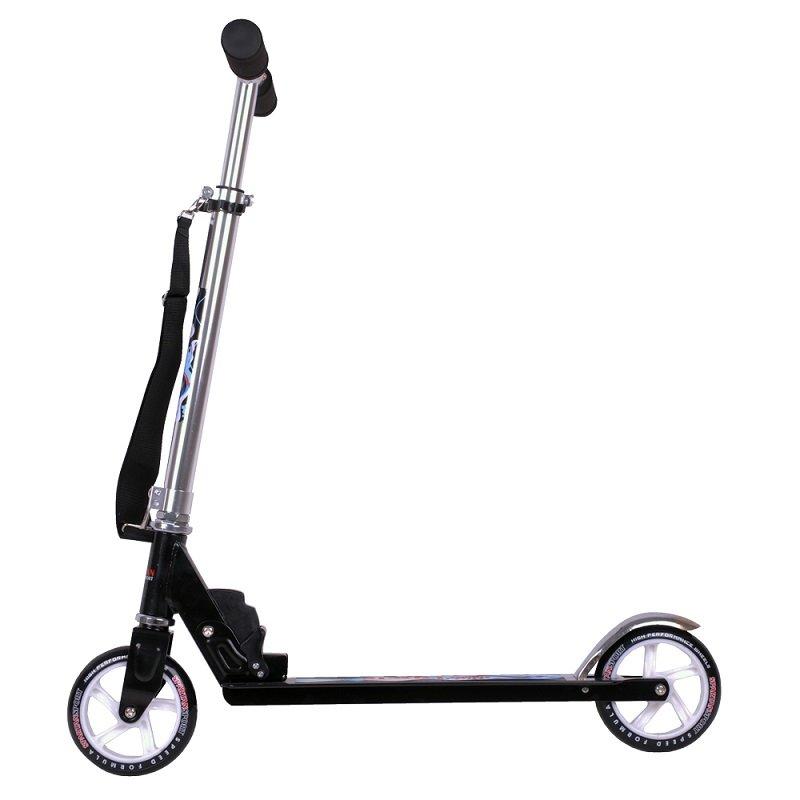 Černo-modrá dětská koloběžka XC, SPARTAN SPORT - nosnost 100 kg