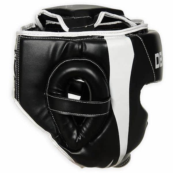 Bílo-černá boxerská přilba Bushido - velikost M