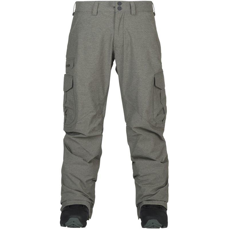 Šedé pánské snowboardové kalhoty Burton - velikost XL
