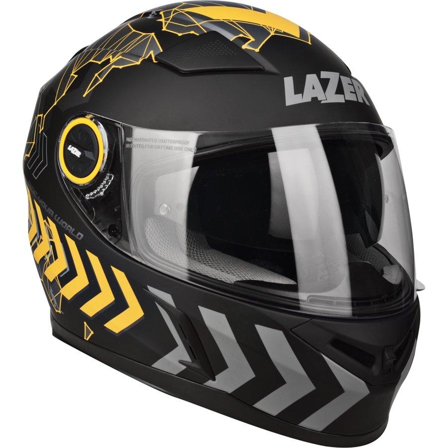 Černo-žlutá unisex helma na motorku Bayamo Adam Special, Lazer