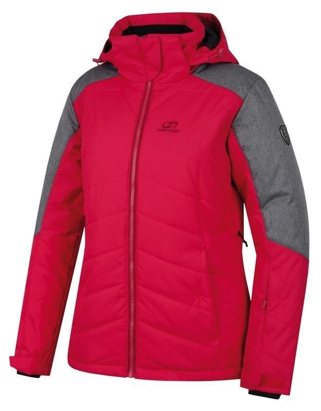 Červeno-šedá dámská lyžařská bunda Hannah - velikost 42