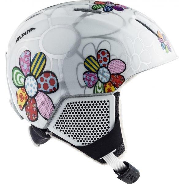 Lyžařská helma - Alpina Sports CARAT LX bílá (51 - 55) - Dětská lyžařská helma