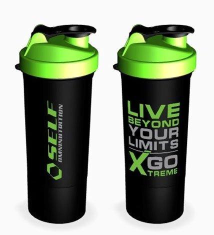 Shaker - SmartShake Slim - Self Omninutrition Zeleno - Čierna 400ml