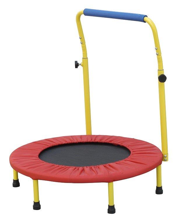 Kruhová fitness trampolína s madlem - průměr 80 cm