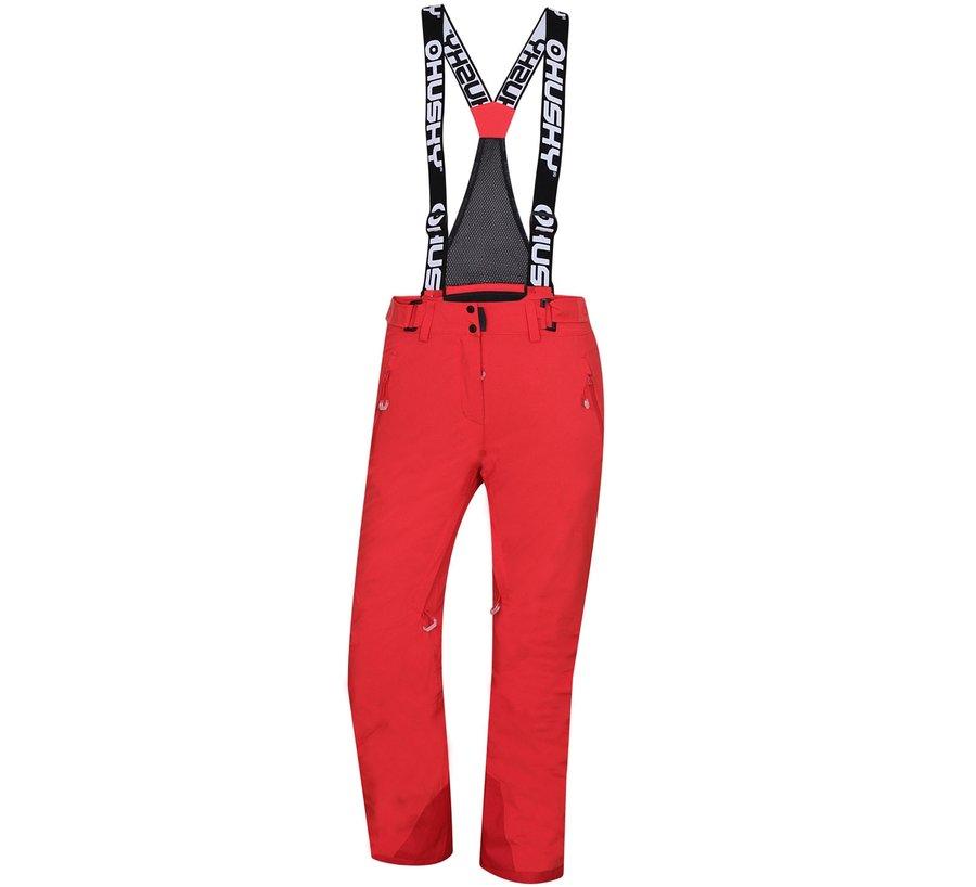 Červené dámské lyžařské kalhoty Husky
