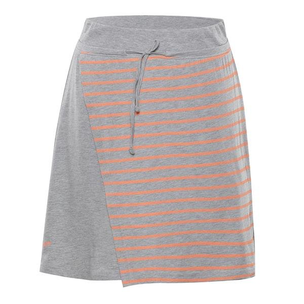 Oranžovo-šedá dámská sukně Alpine Pro