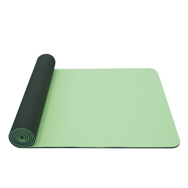 Zelená podložka na jógu Yate - délka 173 cm a tloušťka 0,6 cm