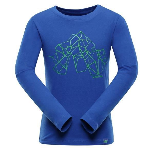 Modré turistické tričko s dlouhým rukávem Alpine Pro - velikost 116-122