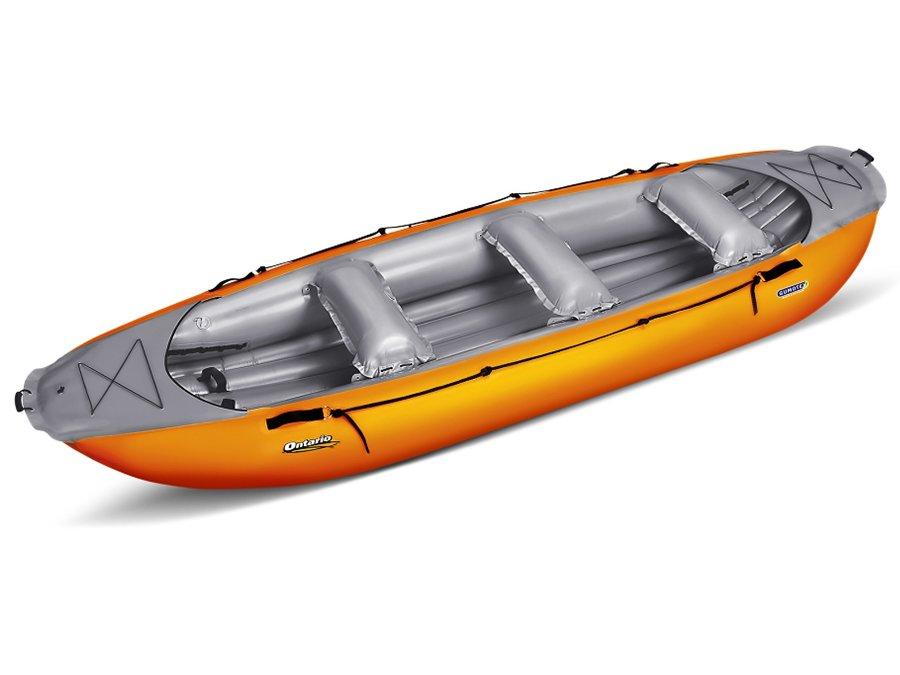 Žlutý nafukovací člun pro 6 osob Gumotex