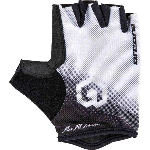 Bílo-černé dámské cyklistické rukavice Arcore