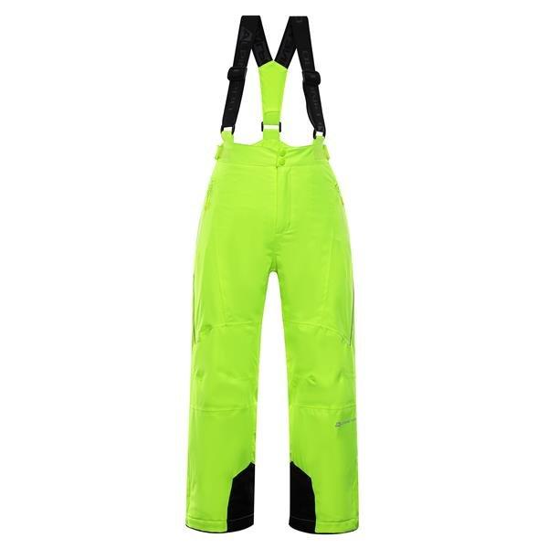 Zelené dětské lyžařské kalhoty Alpine Pro - velikost 92-98