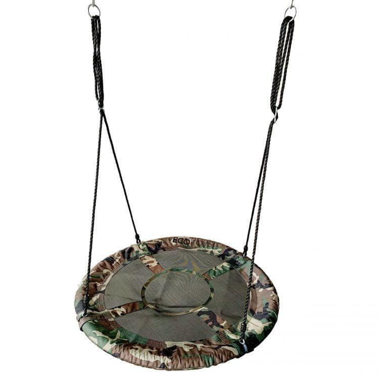 Zelený houpací kruh EcoToys - průměr 100 cm