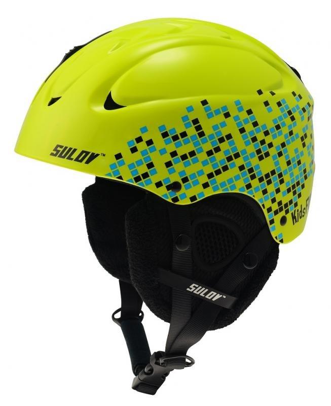 Zelená dětská lyžařská helma Sulov - velikost 49-52 cm